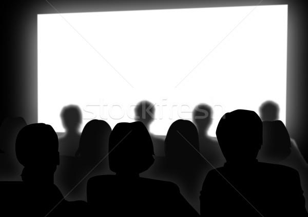 Cine stock imagen personas viendo película Foto stock © rudall30