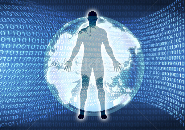 Virtual mundo estoque imagem homem descobrir Foto stock © rudall30