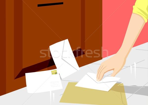 Estoque vetor pessoa para cima cartas Foto stock © rudall30