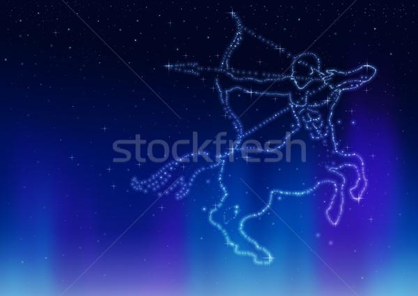Ilustración constelación caballo arte espacio estrellas Foto stock © rudall30