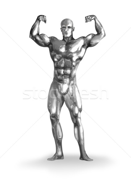 Chrome homme illustration corps musclé sport corps Photo stock © rudall30