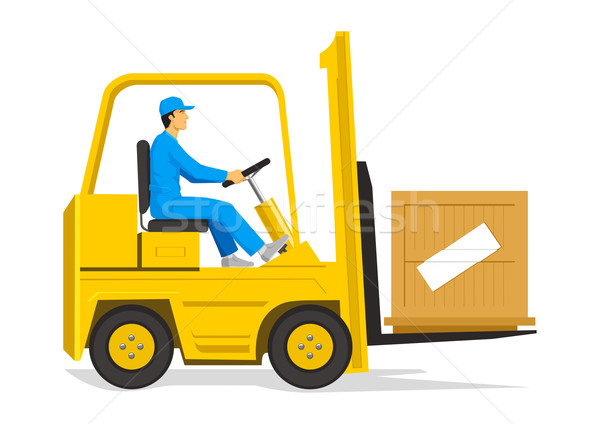 Forklift Stock photo © rudall30
