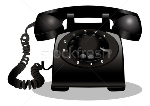 Teléfono icónico ilustración clásico Internet diseno Foto stock © rudall30