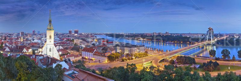 Pozsony Szlovákia panorámakép kép város Stock fotó © rudi1976