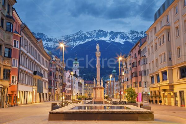 Imagem Áustria crepúsculo europeu alpes Foto stock © rudi1976