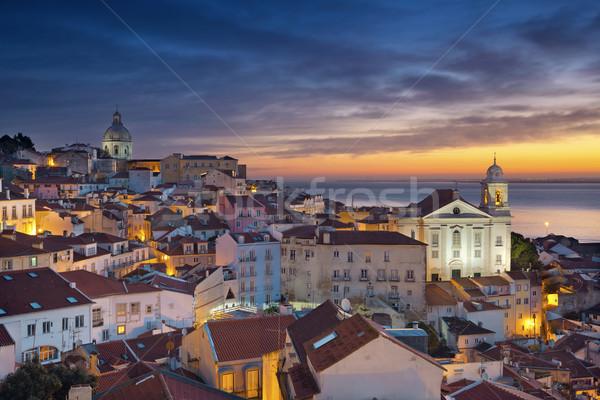 リスボン 画像 ポルトガル 劇的な 日の出 ストックフォト © rudi1976
