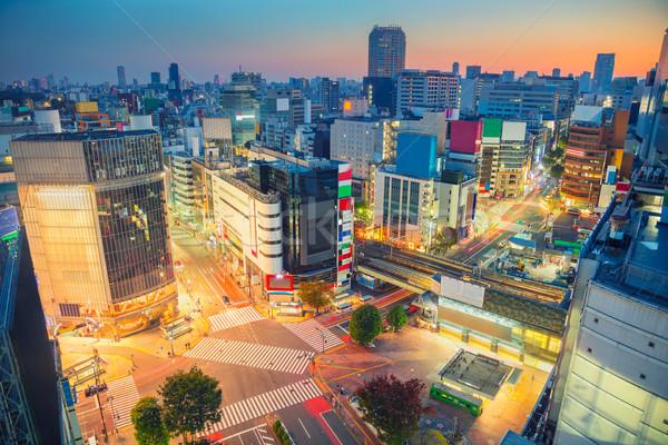Tokio Japón paisaje urbano imagen cielo calle Foto stock © rudi1976