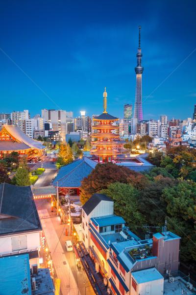 Tokio paisaje urbano imagen horizonte crepúsculo Japón Foto stock © rudi1976