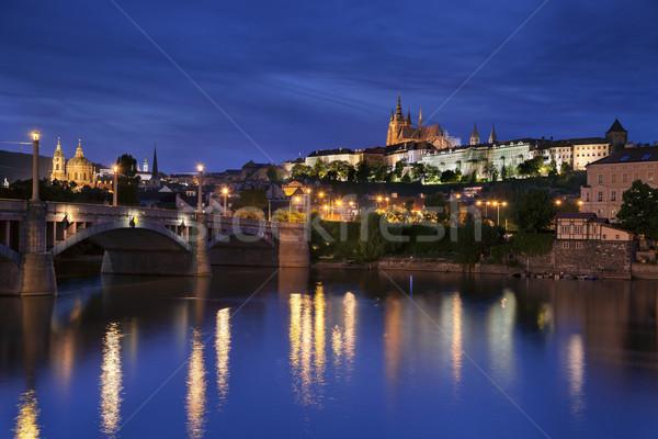 Prague at night. Stock photo © rudi1976