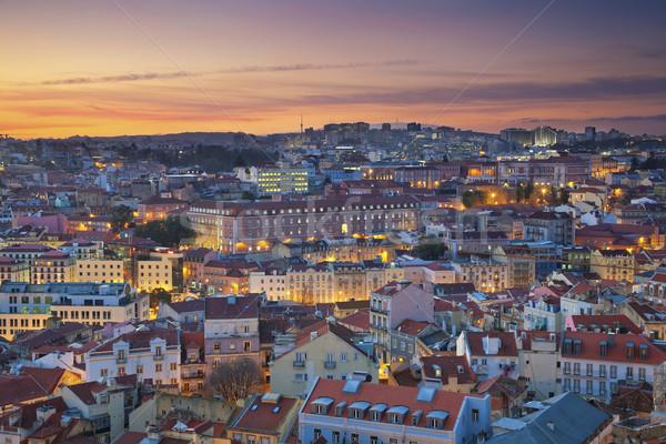 Lisboa imagen Portugal dramático puesta de sol Foto stock © rudi1976