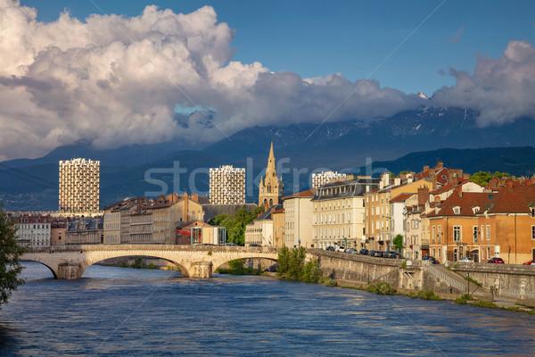Cityscape imagem França céu pôr do sol natureza Foto stock © rudi1976