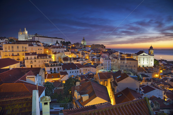 Lisboa imagen Portugal dramático amanecer Foto stock © rudi1976