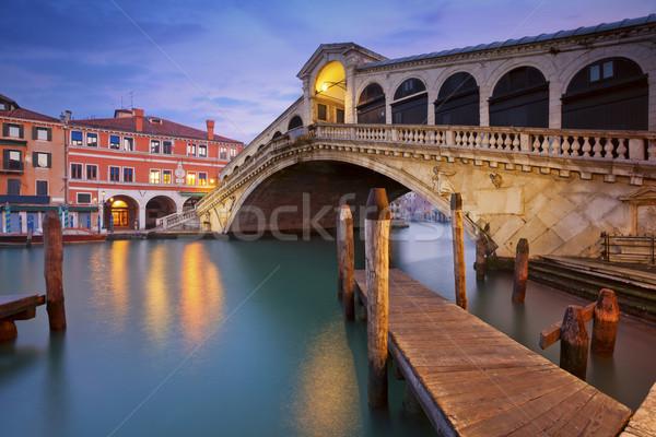Veneza imagem ponte madrugada Foto stock © rudi1976