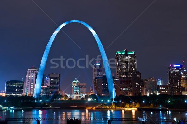 Foto stock: Cidade · imagem · centro · da · cidade · arco · noite
