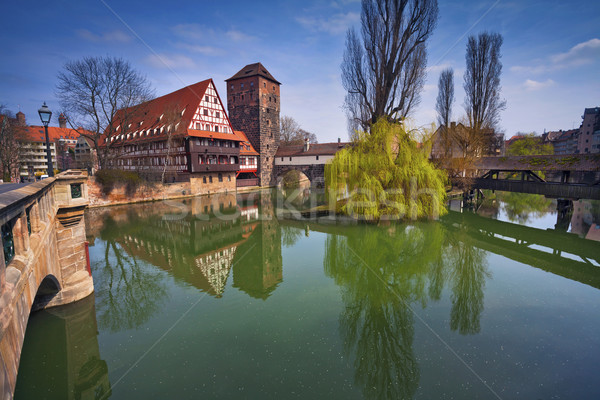 Германия изображение старый город Солнечный весны день Сток-фото © rudi1976
