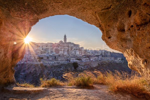 İtalya Cityscape görüntü ortaçağ şehir güzel Stok fotoğraf © rudi1976