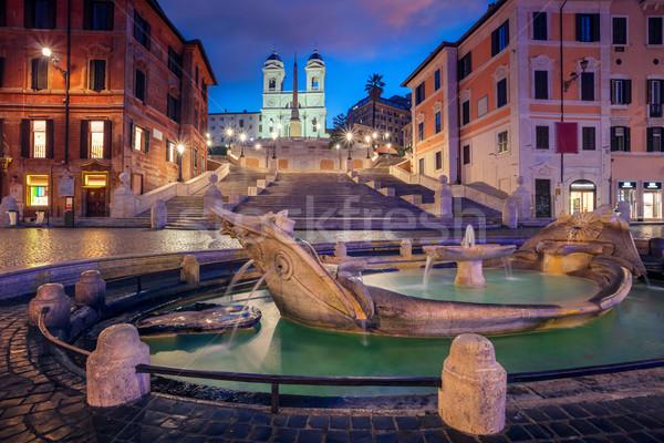 Roma cityscape imagem espanhol passos Itália Foto stock © rudi1976