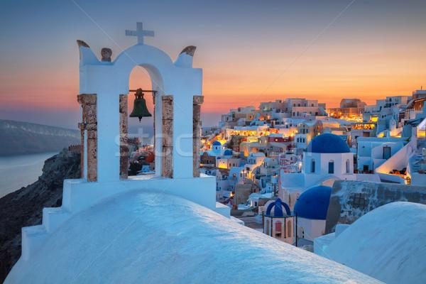 Santorini kép híres falu sziget dél Stock fotó © rudi1976
