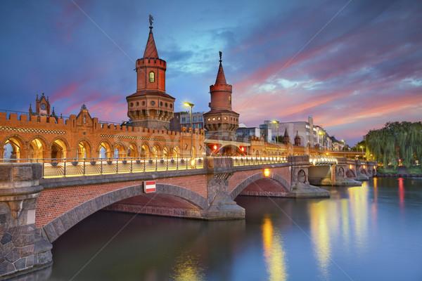 Köprü Berlin görüntü dramatik gün batımı Stok fotoğraf © rudi1976