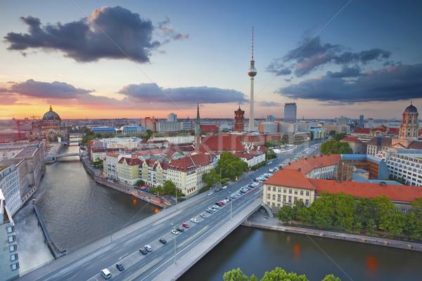 ベルリン 美しい 日没 ストックフォト © rudi1976