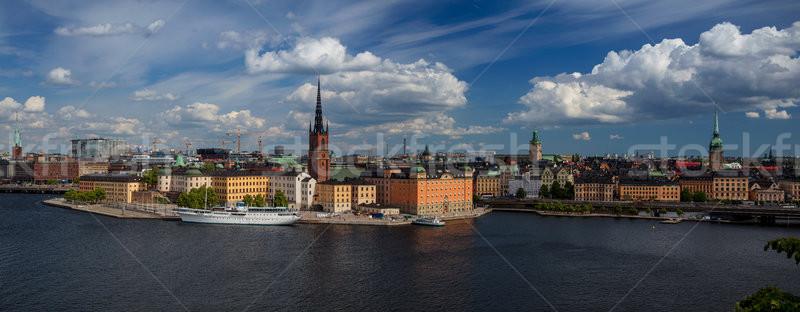 Panorâmico imagem céu nuvens verão Foto stock © rudi1976