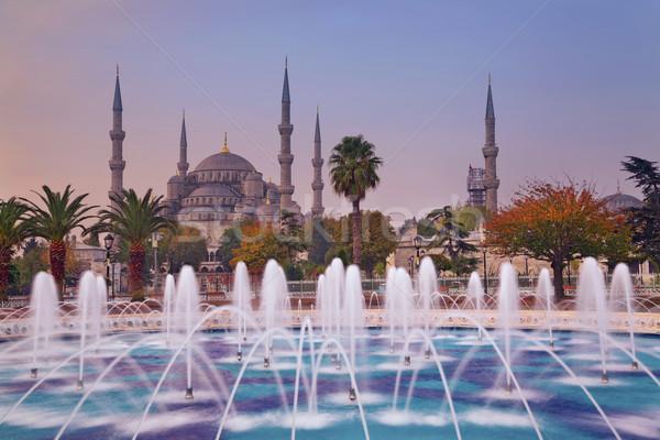 Autunno Istanbul immagine blu moschea Turchia Foto d'archivio © rudi1976