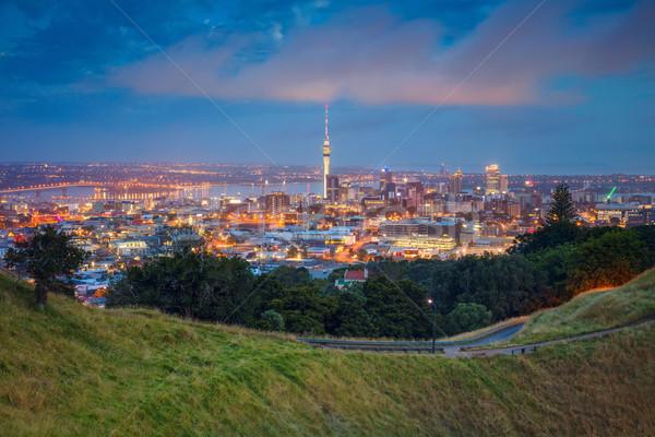 Cityscape imagem linha do horizonte Nova Zelândia estrada paisagem Foto stock © rudi1976