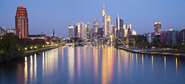 Франкфурт основной панорамный изображение Skyline Сток-фото © rudi1976