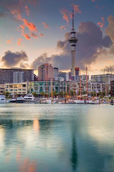 Cityscape imagem linha do horizonte Nova Zelândia mar urbano Foto stock © rudi1976