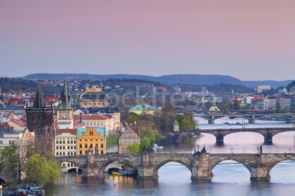 Praga imagem cidade República Checa ponte muitos Foto stock © rudi1976