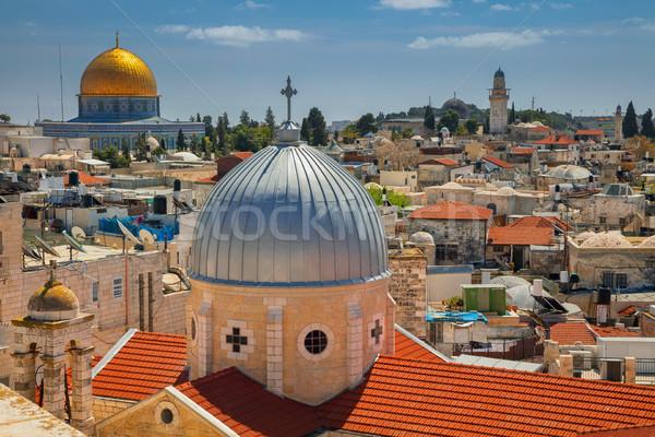 エルサレム 景観 画像 旧市街 イスラエル 教会 ストックフォト © rudi1976