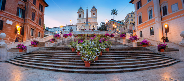 Roma panorâmico cityscape imagem espanhol passos Foto stock © rudi1976