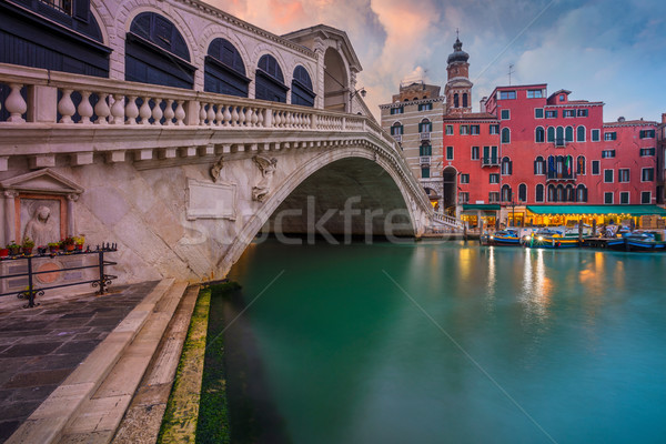 Veneza cityscape imagem famoso ponte céu Foto stock © rudi1976