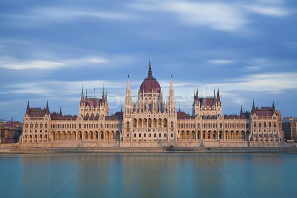 Budapeste longa exposição imagem húngaro parlamento Foto stock © rudi1976