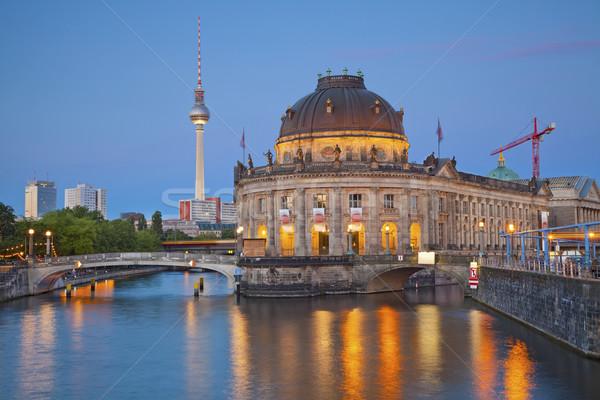 Museo isla Berlín imagen tv torre Foto stock © rudi1976