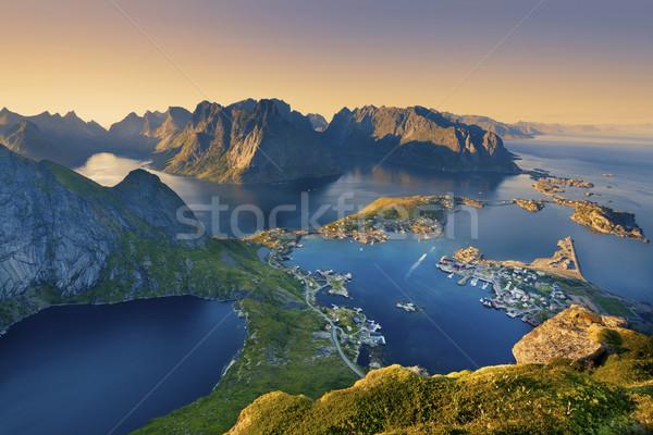 Ver Noruega verão pôr do sol Foto stock © rudi1976