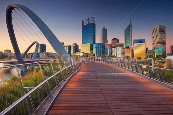 Cityscape imagem centro da cidade linha do horizonte Austrália céu Foto stock © rudi1976
