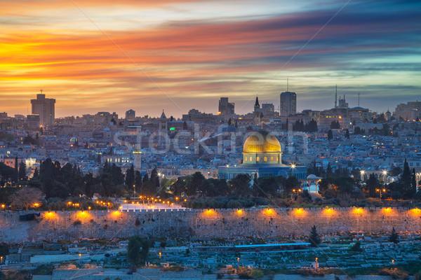 Cidade velha Jerusalém cityscape imagem Israel cúpula Foto stock © rudi1976