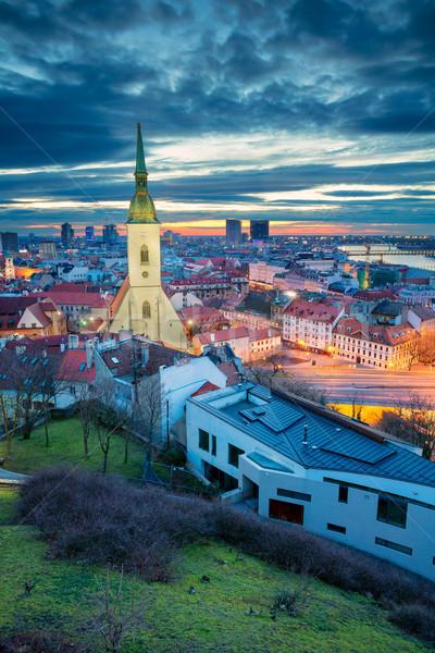 ブラチスラバ 景観 画像 市 スロバキア 劇的な ストックフォト © rudi1976