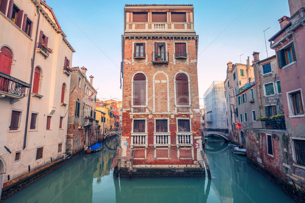 Venezia cityscape immagine stretta città muro Foto d'archivio © rudi1976