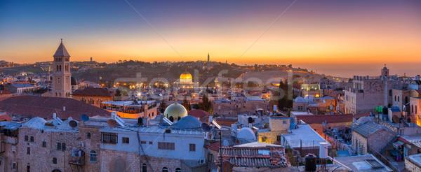 Gerusalemme panoramica cityscape immagine città vecchia Israele Foto d'archivio © rudi1976
