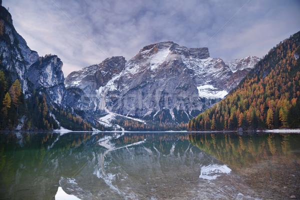 Outono alpes idílico lago colorido floresta Foto stock © rudi1976