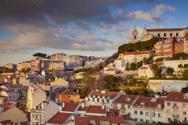 Lisboa imagem Portugal dourado hora Foto stock © rudi1976