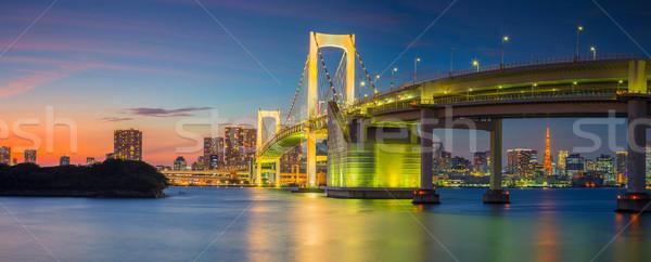 Arco iris puente panorama Tokio panorámica paisaje urbano Foto stock © rudi1976