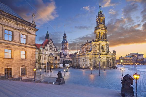 Dresda immagine Germania crepuscolo blu ora Foto d'archivio © rudi1976