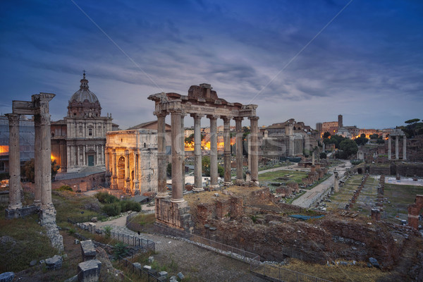 Romano fórum imagem ruínas Roma Itália Foto stock © rudi1976