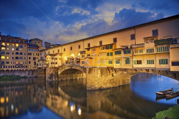 Florence imagem Itália crepúsculo Foto stock © rudi1976