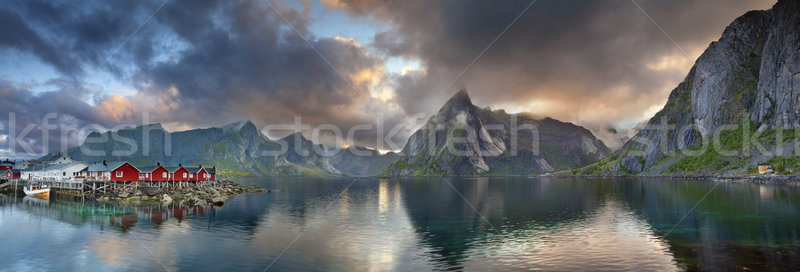Lofoten Islands Panorama. Stock photo © rudi1976