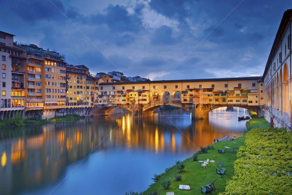 Флоренция изображение Италия сумерки Сток-фото © rudi1976