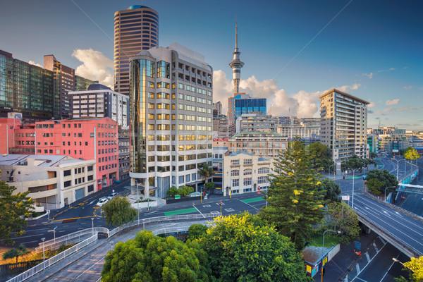антенна Cityscape изображение Skyline Новая Зеландия лет Сток-фото © rudi1976